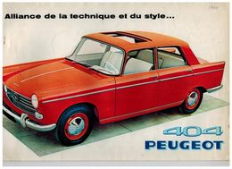 PEUGEOT 404 CATALOGUE 3 VOLETS 1960 Format 31 X 20.5 FRANCE - Advertising