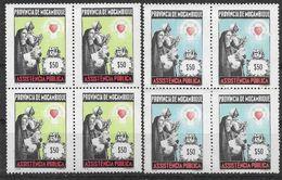 1963-69 MOZAMBIQUE Bienfaisance 31-32** Assistance Publique, Bloc De 4 - Mozambique