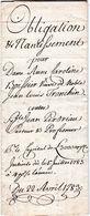 Obligation & Nantissement - Genève - 1783 -  Boissier -  Perdriau - Tronchin - Turrettini  4 Pages - Familles Connues - Manuscrits