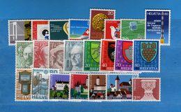 (Riz) Svizzera ** -1979 -  Annata Completa, Année Complète.- 24 Valeur .  MNH.  NEUF. Vedi Descrizione - Unused Stamps