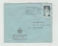 """LSC 1965 - Flamme """"BISCHWILLER Cité Industrielle Sa Fête Des Fifres"""" Sur YT 1392A  Avec Cachet Rond Bien Centré - Marcophilie (Lettres)"""