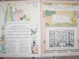 PARIS USINE GAVELLE/ CHANSON SAINT NICOLAS/ LES JEUX CROQUET TENNIS RUGBY - Book Covers