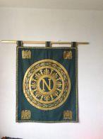Bannière Etendard Trone De Napoleon 1er Entièrement Doublé - Other