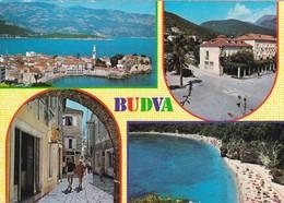 Postcard Budva Montenegro Multiview My Ref B22305 - Montenegro