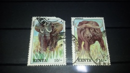 1992 ELEPHANT 10/= BUFFALO 11/= USED KENYA - Kenya (1963-...)