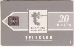 225/ Malta; P4. Telemalta Logo - Long Antenna, 20 Ut., SC5, CN 38924 - Malta