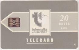 227/ Malta; P8. Telemalta Logo - Short Antenna, 20 Ut., SC5, CN 43522 - Malta