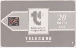 228/ Malta; P8. Telemalta Logo - Short Antenna, 20 Ut., SC4, CN 44395 - Malta