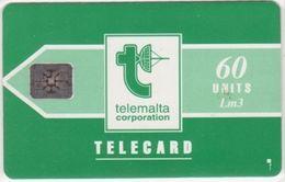 229/ Malta; P9. Telemalta Logo - Short Antenna, 60 Ut., SC4, CN 44275 - Malta