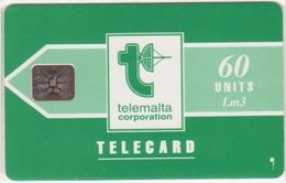 231/ Malta; P9. Telemalta Logo - Short Antenna, 60 Ut., SC5, CN C31141002 - Malta