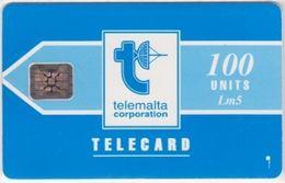232/ Malta; P10. Telemalta Logo - Short Antenna, 100 Ut., SC4, CN C31140992 - Malta