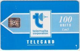 233/ Malta; P10. Telemalta Logo - Short Antenna, 100 Ut., SC5, CN 43502 - Malta