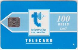 234/ Malta; P10. Telemalta Logo - Short Antenna, 100 Ut., SC5, CN 43504 - Malta