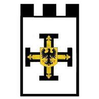 Bannière Ordre Des Chevaliers Teutoniques Entièrement Doublé - Other