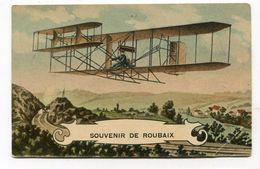 CPA  59 : ROUBAIX  Souvenir Avec Avion  VOIR   DESCRIPTIF  §§§ - Roubaix