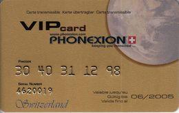 VIP Card Phonexion - Switzerland