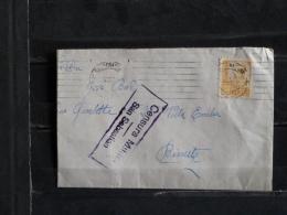 Censura Militar San Sebastian - 1937 - Hasta Francia - Marcas De Censura Nacional