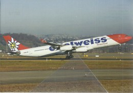 EDELWEISS AIRLINES AIRBUS A340 HB-JMG AT ZURIGO - 1946-....: Era Moderna