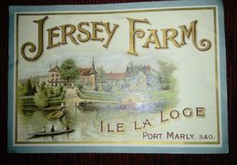 Etiquette ILE LA LOGE PORT MARLY Pour Marque Jersey Farm - Publicités