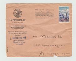 """Devant D'enveloppe - Flamme """" VIERZON Carrefour De France....""""  Sur YT 1454 Avec Cachet Rond Bien Centré. - Marcophilie (Lettres)"""