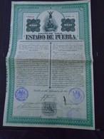 MEXIQUE / ETAT DE PUEBLA / BOND DE  1 000 $ / 1907 - Shareholdings