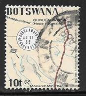 Botswana, Scott # 436 Used Runner Post Route, 1988 - Botswana (1966-...)