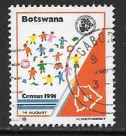 Botswana, Scott # 494 Used Children Playing, 1991 - Botswana (1966-...)