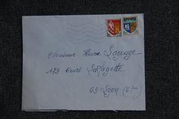 Lettre D'OLLIOULES  Vers LYON ( N° 1353 A Et 1354 A). - France