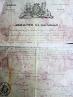 TARRAGONA - 1831 PATENTE DE SANIDAD Certificando Que El Puerto Esta Libre De Peste Para Fragata En Viaje A Brasil - Historical Documents