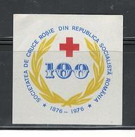 """ROMANIA 1876-1976 """"100th ROMANIAN RED CROSS ANNIVERSARY"""" - Abarten Und Kuriositäten"""