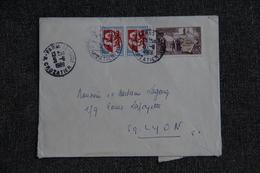 Lettre De PARIS Vers LYON ( N°1468 X 2 Et 1562) - France