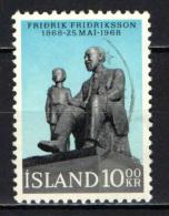 ISLANDA - 1968 - CENTENARIO DELLA NASCITA DEL PASTORE FRIDRICK FRIDIKSSON - USATO - 1944-... Republik