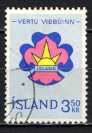 ISLANDA - 1964 - EMBLEMA DEGLI SCOUTS - USATO - 1944-... Republik