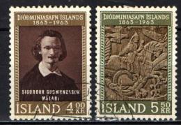ISLANDA - 1963 - CENTENARIO DEL MUSEO NAZIONALE FONDATO DAL PITTORE SIGURDUR GUDMUNSSON - USATI - 1944-... Republik