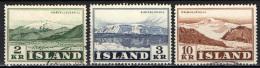 ISLANDA - 1957 - VEDUTE DI MONTAGNE: EIRIK E ORAEFA - USATI - 1944-... Repubblica