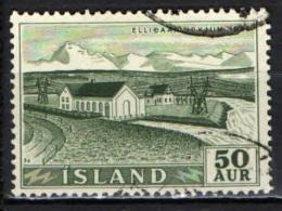 ISLANDA - 1956 - CENTRALE IDROELETTRICA DI ELLIDAAR - USATO - 1944-... Repubblica