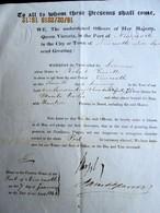 UK - 1846 NEWCASTLE Officers Of Her Majesty Queen Victoria Giving Certificate Of NO PESTILENCE, PLAGUE Nor Any CONTIGOUS - Documentos Históricos
