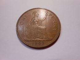 Grossbritannien One Penny  1962  Queen Elizabeth Ll - 1902-1971 : Post-Victorian Coins