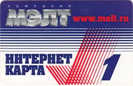 RUSSIA - MELT Internet Prepaid Card, Used - Russia