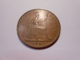 Grossbritannien One Penny  1963  Queen Elizabeth Ll - D. 1 Penny