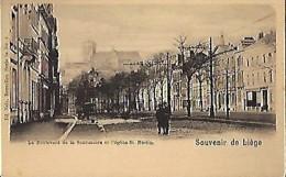 LIEGE : Le Boulevard De La Sauvenière Et L'église Saint Martin - Liege