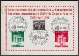 Amerikanische + Britische Zone, Bizone: Sonderkarte Mi-Nr. 101-02 + Berlin Nr. 42: Messe Druck Und Papier 1951 !     X - Zona Anglo-Americana