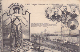 Cpa-44-nantes-VIIIe Congres National De La Mutualité En 1904 (poeme De A.Gaboriaud-edi Dugas - Nantes