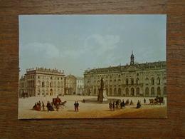 Nancy , La Place Stanislas Et L'hôtel De Ville ( Tithographie Du Second Empire ) - Nancy