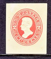 US CUT  SQUARE  U 144   CREAM   *   1874  ISSUE - Postal Stationery
