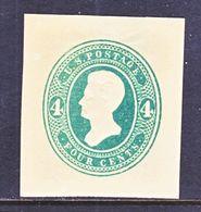 US CUT  SQUARE  U 251  DIE  I  AMBER   *   1883-6  ISSUE - Postal Stationery