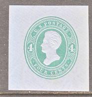 US CUT  SQUARE  U 253   DIE  I    *   1883-6  ISSUE - Postal Stationery