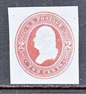 US CUT  SQUARE  U 280       *   1884-6  ISSUE - Postal Stationery
