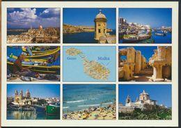 °°° 10791 - MALTA - AERIAL VIEW OF VALLETA - With Stamps Unused °°° - Malta
