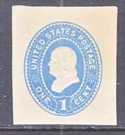 US CUT  SQUARE  U 304    AMBER  MANILA   *   1887-94  ISSUE - Postal Stationery